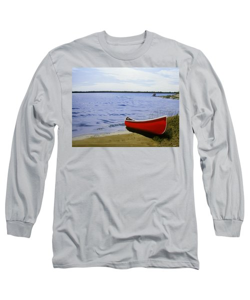 Beautiful Red Canoe Long Sleeve T-Shirt