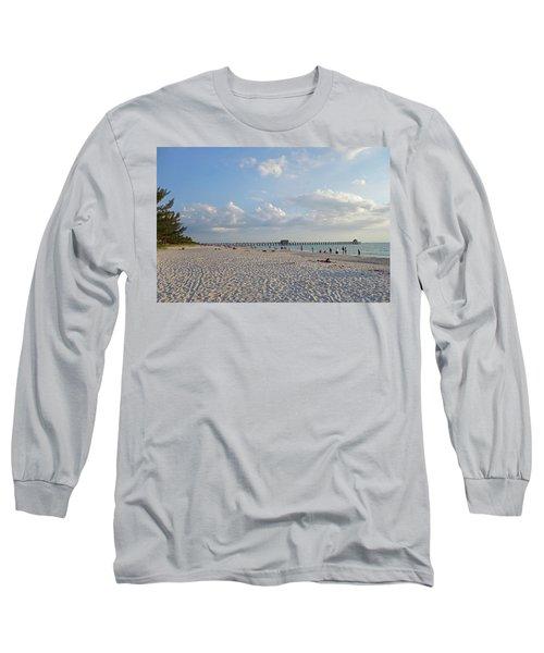 Beautiful Day On Naples Beach Naples Florida Long Sleeve T-Shirt