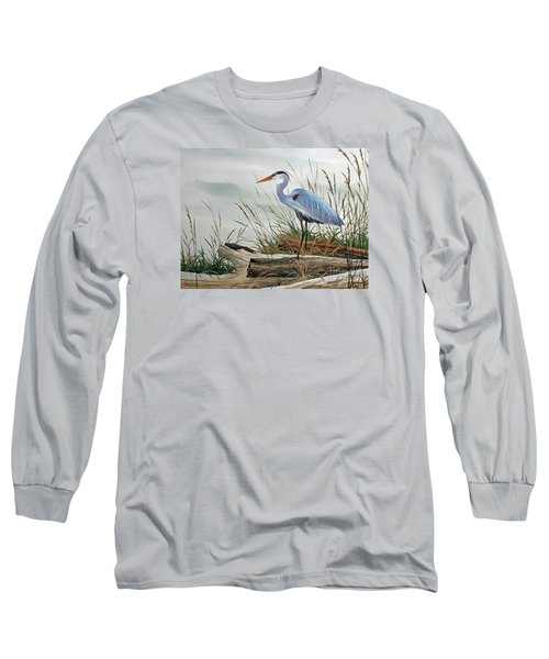 Beautiful Heron Shore Long Sleeve T-Shirt