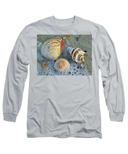 Beautiful Shells In The Surf Long Sleeve T-Shirt