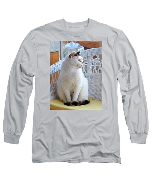 Long Sleeve T-Shirt featuring the photograph Beauty In White by Phyllis Kaltenbach