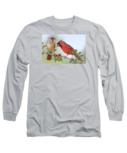 Beauty On A Branch Long Sleeve T-Shirt by Bonnie Barry