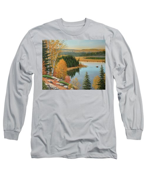 Beaver Pond Lookout Long Sleeve T-Shirt