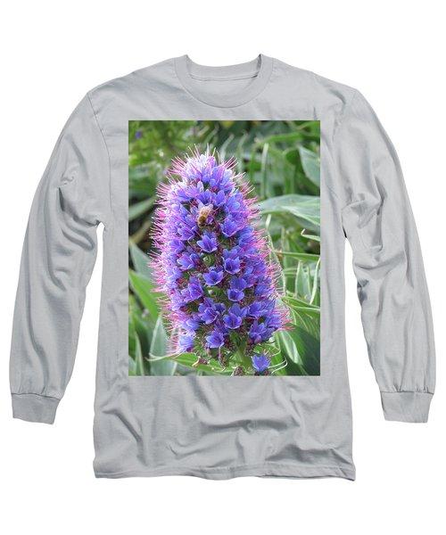 Bee On Blue Long Sleeve T-Shirt