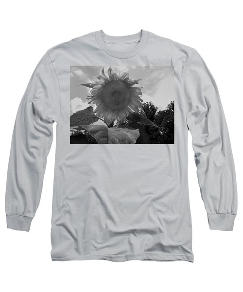 Long Sleeve T-Shirt featuring the digital art Bees On A Sunflower by Chris Flees