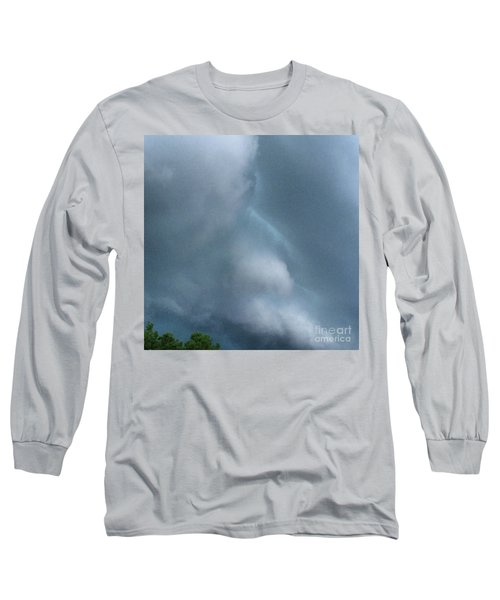 Behold He Cometh With Clouds Long Sleeve T-Shirt