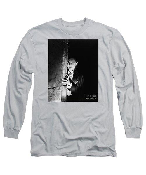 Bela Lugosi Dracula Long Sleeve T-Shirt by R Muirhead Art