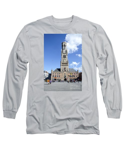 Long Sleeve T-Shirt featuring the photograph Belfry Of Bruges by Pravine Chester