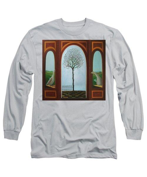 Belgian Triptyck Long Sleeve T-Shirt by Tone Aanderaa