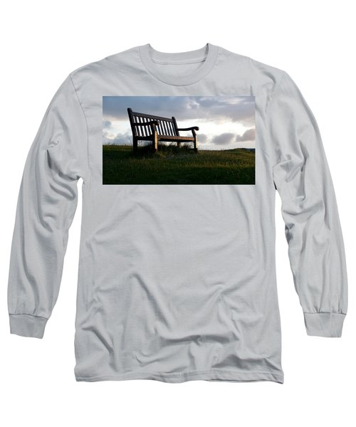 Bench At Sunset Long Sleeve T-Shirt
