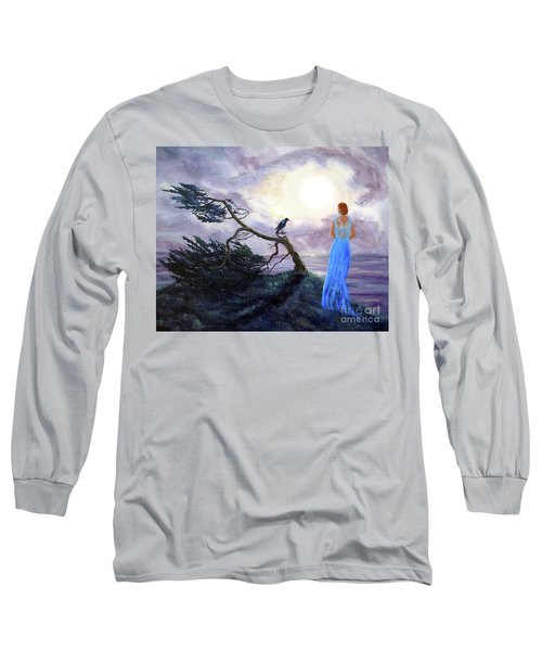 Bent Cypress And Blue Lady Long Sleeve T-Shirt