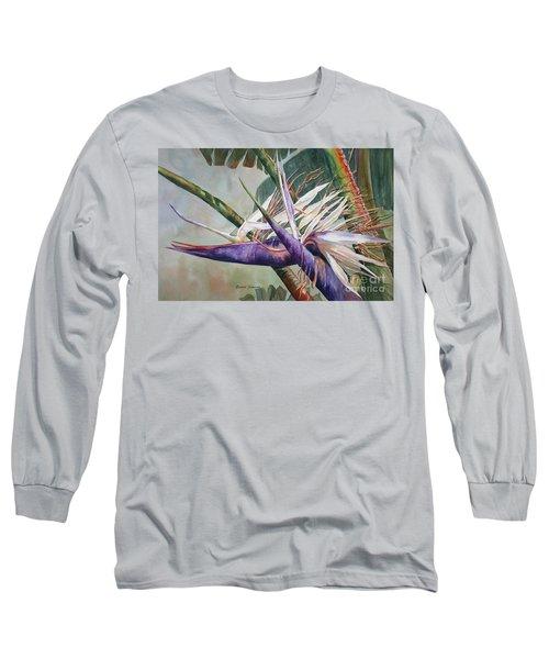 Betty's Bird - Bird Of Paradise Long Sleeve T-Shirt by Roxanne Tobaison