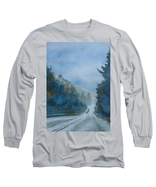 Between The Showers On Hwy 101 Long Sleeve T-Shirt