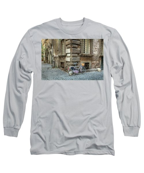 Bicycle In Rome Long Sleeve T-Shirt