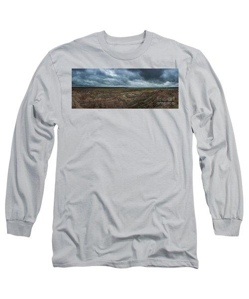 Big Badlands Overlook Panorama 2  Long Sleeve T-Shirt