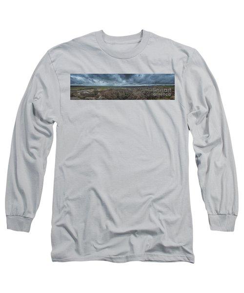 Big Badlands Overlook Panorama Long Sleeve T-Shirt