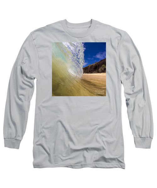 Big Beach Maui Shore Break Wave Long Sleeve T-Shirt