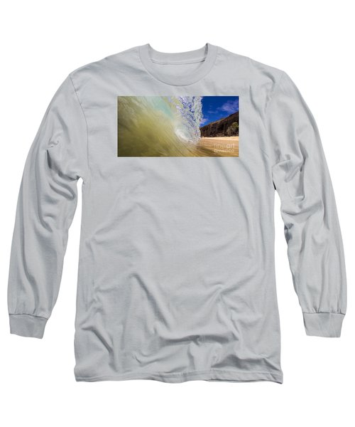Big Beach Maui Shore Break Wave Wide  Long Sleeve T-Shirt