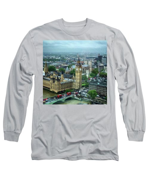 Big Ben From The London Eye Long Sleeve T-Shirt