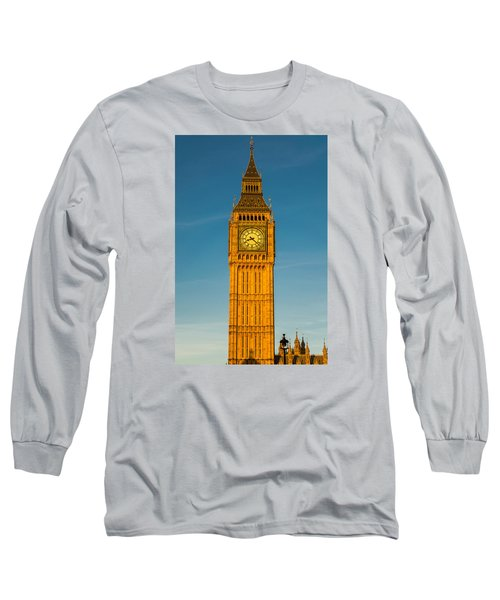 Big Ben Tower Golden Hour London Long Sleeve T-Shirt