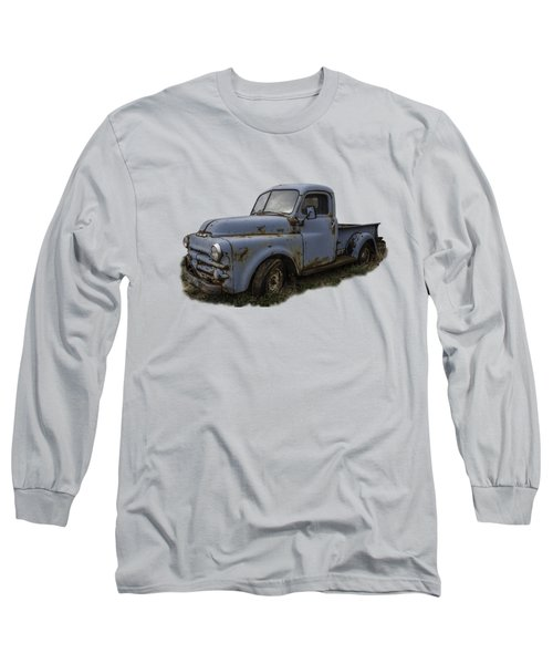 Big Blue Dodge Alone Long Sleeve T-Shirt by Debra and Dave Vanderlaan