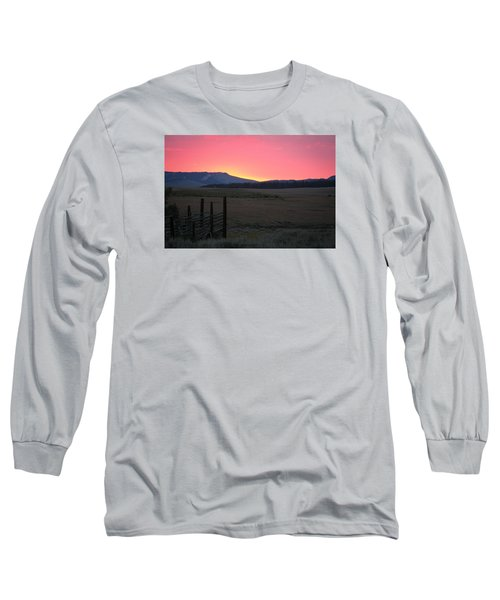 Big Horn Sunrise Long Sleeve T-Shirt by Diane Bohna