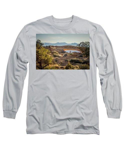 Bighorn Sheep And Mesa Arch Long Sleeve T-Shirt