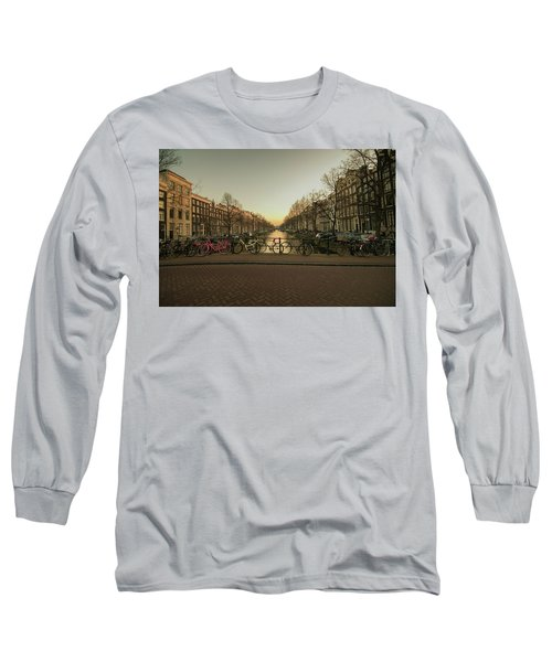 Bikes On The Canal Bridge Long Sleeve T-Shirt