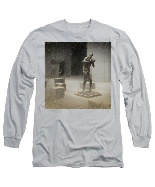 Bill Russell Statue Long Sleeve T-Shirt