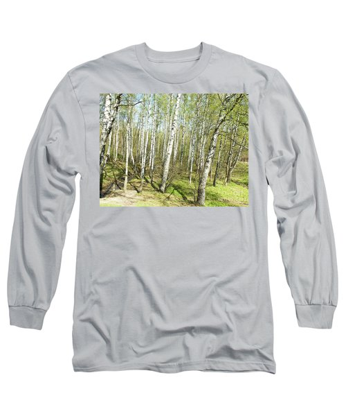 Birch Forest In Spring Long Sleeve T-Shirt