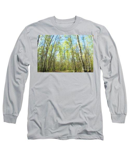 Birch Forest Spring Long Sleeve T-Shirt