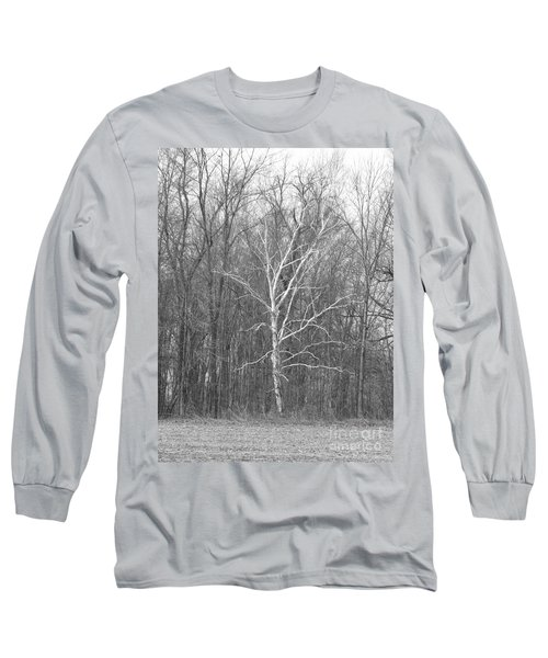Birch In Bw Long Sleeve T-Shirt