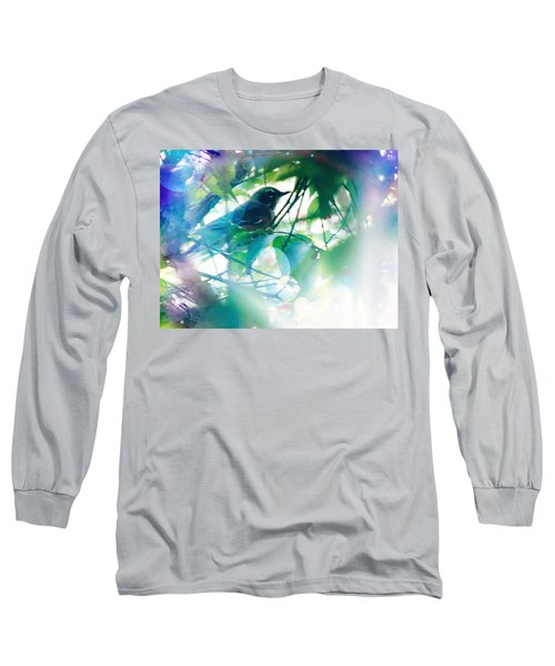 Bird And Blue Long Sleeve T-Shirt