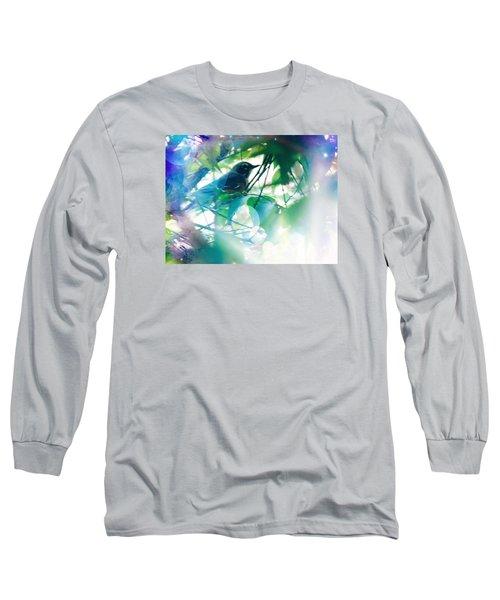 Bird And Blue Long Sleeve T-Shirt