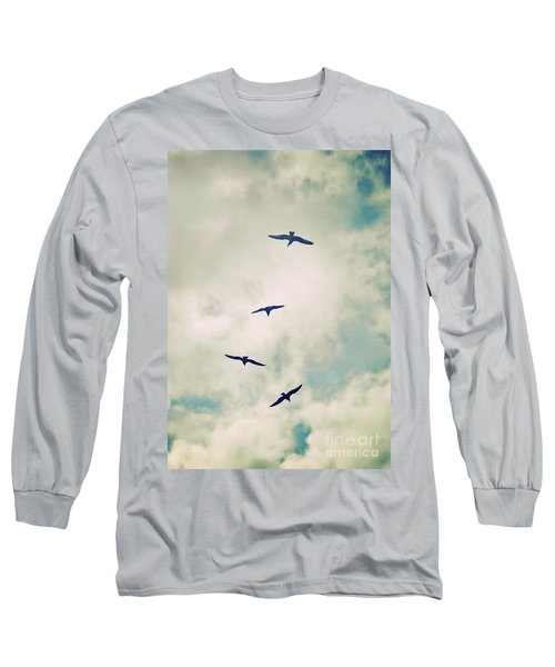 Long Sleeve T-Shirt featuring the photograph Bird Dance by Lyn Randle