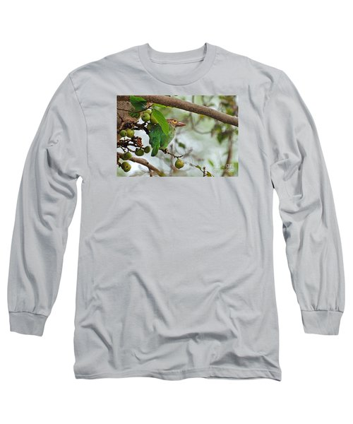 Long Sleeve T-Shirt featuring the photograph Bird In The Bush by Pravine Chester