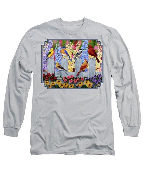 Bird Painting - Spring Garden Party Long Sleeve T-Shirt