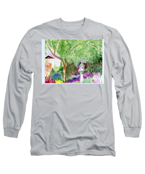 Long Sleeve T-Shirt featuring the painting Birdhouse by Jamie Frier