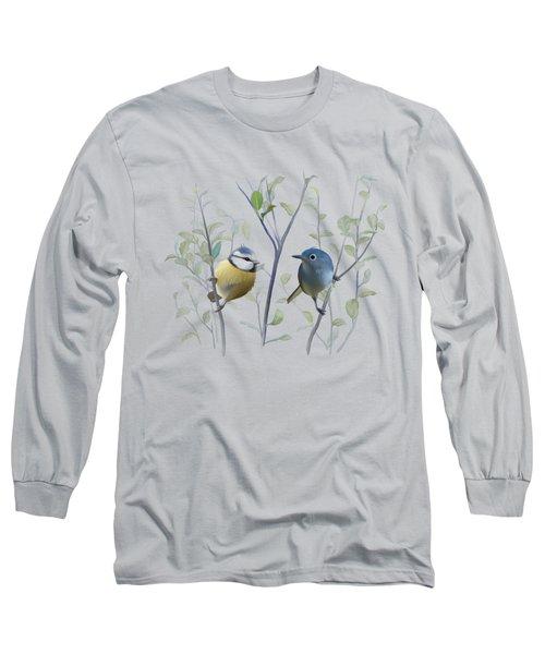 Birds In Tree Long Sleeve T-Shirt