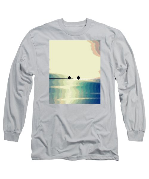 Birds On A Wire Long Sleeve T-Shirt