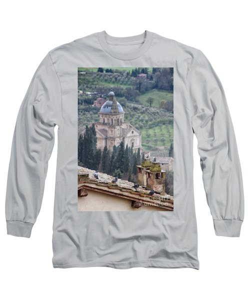 Birds Overlooking The Countryside Long Sleeve T-Shirt