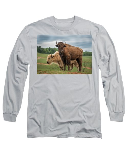 Long Sleeve T-Shirt featuring the photograph Bison 10 by Joye Ardyn Durham
