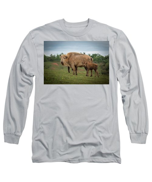 Long Sleeve T-Shirt featuring the photograph Bison 7 by Joye Ardyn Durham