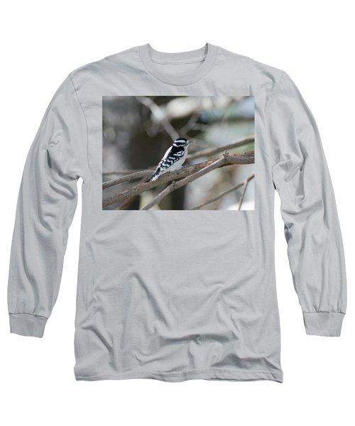 Black And White Bird Long Sleeve T-Shirt