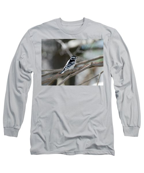 Black And White Bird Long Sleeve T-Shirt