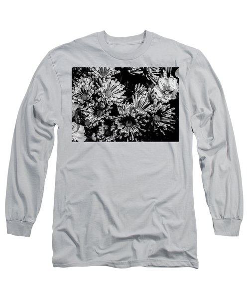 Black And White Bouquet Long Sleeve T-Shirt
