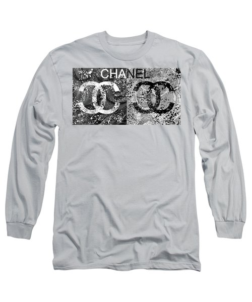 Black And White Chanel Art Long Sleeve T-Shirt