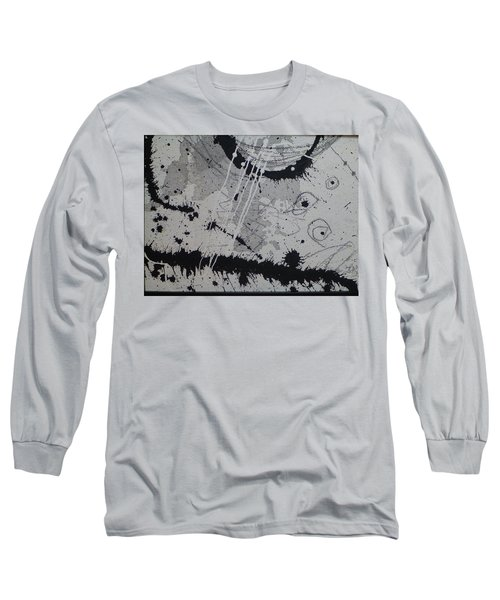 Black And White Four Long Sleeve T-Shirt by Tracy Bonin