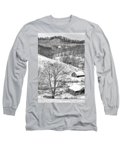 Black And White In Winter Long Sleeve T-Shirt