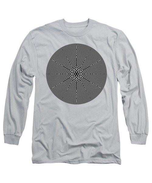 Long Sleeve T-Shirt featuring the digital art Black And White Mandala 10 by Robert Thalmeier